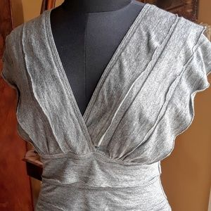 Max Studio Layered grey top size S